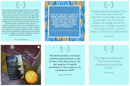 Instagram quote cards for authors to promote books