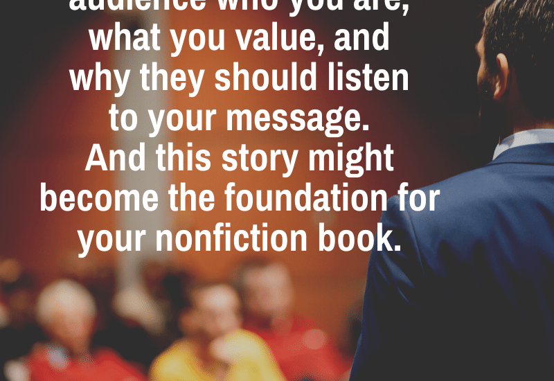 develop a signature story to promote your nonfiction book