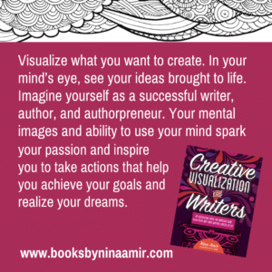 Creative Visualization for Writers Quote Card for Instagram