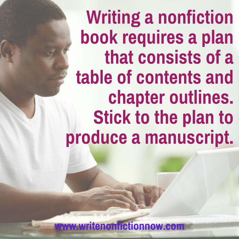 write a nonfiction book - table of contents and chapter outlines or summaries