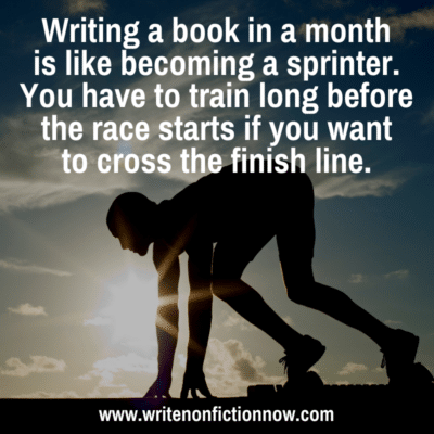 Are you Ready to Write a Nonfiction Book in a Month?