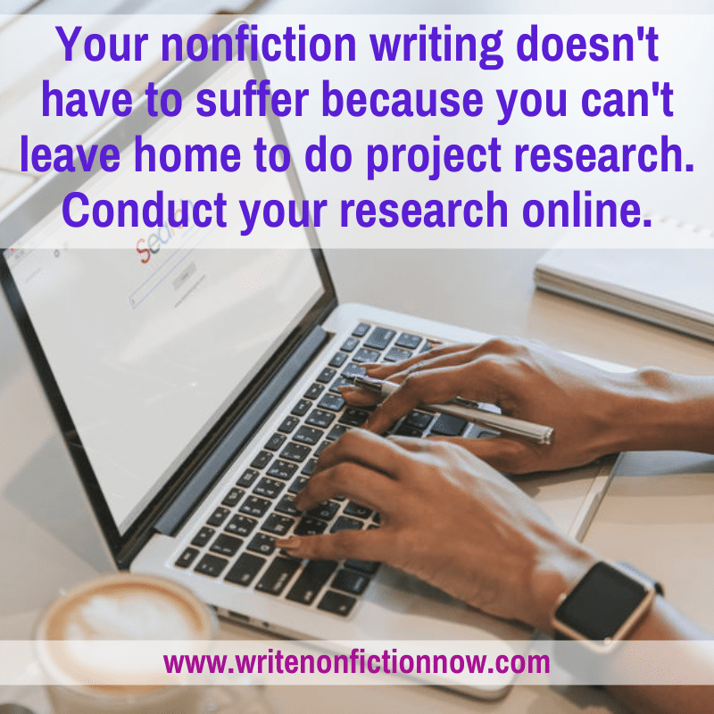 conduct writing project research from home
