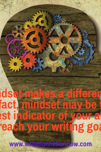Mindset helps writers meet deadlines
