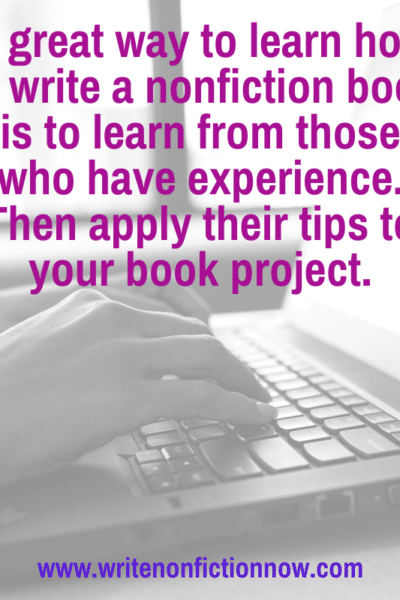 tips for writing a nonfiction book