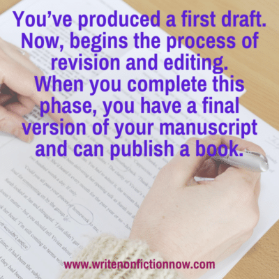 How to Revise and Edit the First Draft of a Nonfiction Book