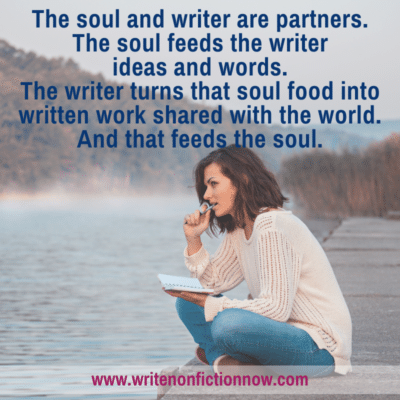 Nonfiction Writers Feed Their Souls with Words