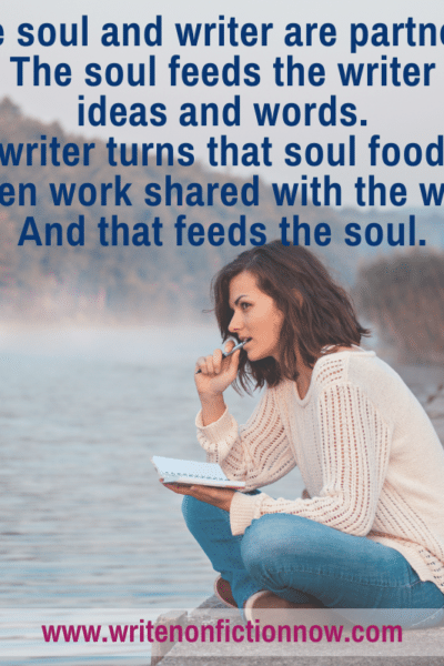nonfiction writers feed their souls by partnering with the soul