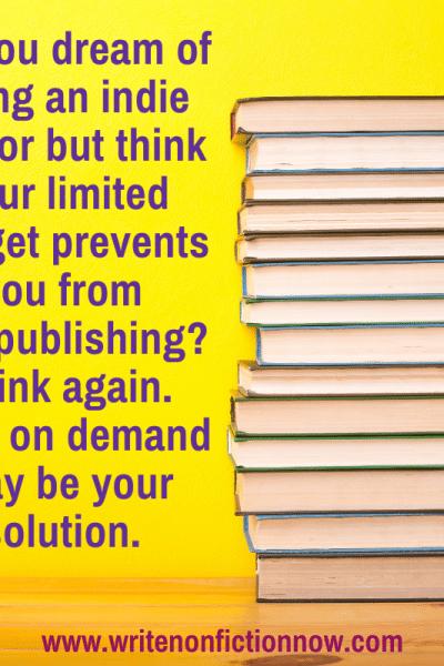 self-publishing with Amazon POD