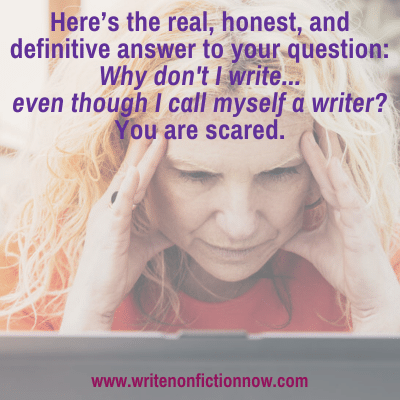 The Definitive Answer to the Question of Why Writers Don't Write