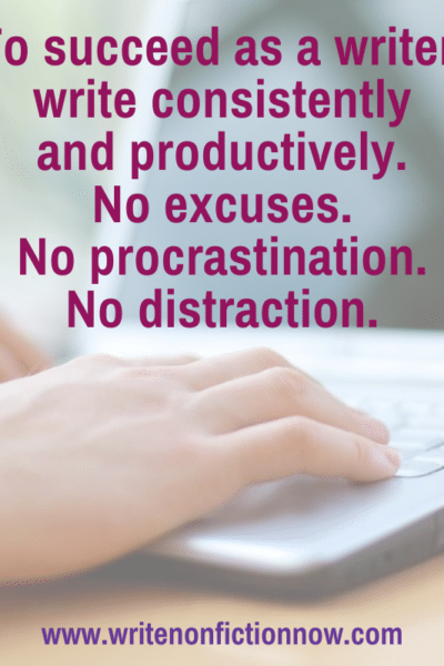 Writing consistently and productively