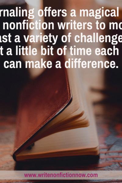 journaling removes writing blocks